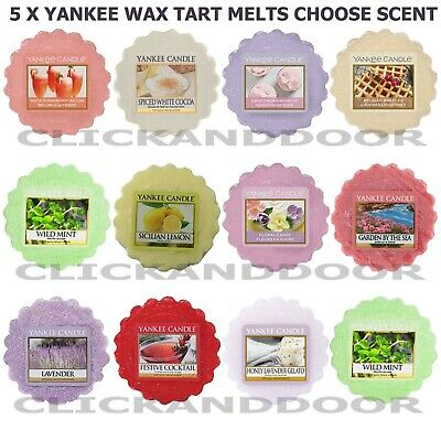 5 X Yankee Candle Scented Wax Tart Melt 22g 8 Hour Scented BurneCHOOSE FRAGRANCE • 9.99£