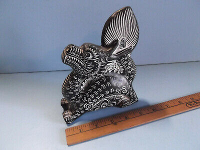 $21 • Buy Ceramic Ancient Aztec Kinda Looking Dragon 5.5 In Long 7 In High And Very Heavy