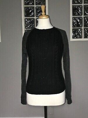 $ CDN66.30 • Buy Lululemon St Moritz Sweater 6 Black Merino Wool Cable Knit Long Sleeve Pullover