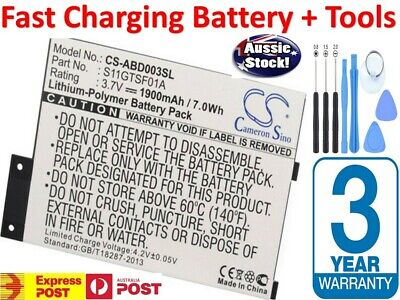 AU25.89 • Buy S11GTSF01A GP-S10-346392-0100 Battery For Amazon Kindle 3 III D00901 EReader AU