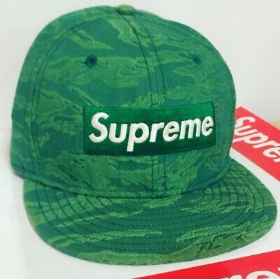 $ CDN151.54 • Buy Supreme New Era Ss07 Tiger Box Logo 7 3/8 Hat 2007 Fitted Cap Authentic Green