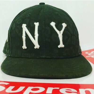 $ CDN151.54 • Buy Supreme New Era Ss09 Bones Hat 7 3/8 2009 Fitted Cap Authentic Green