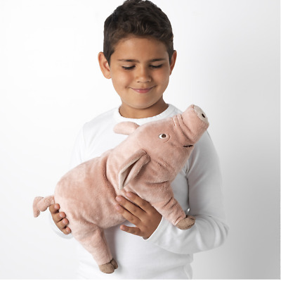 IKEA KNORRIG Soft Toy Pig Plush Pink And Cuddly, Perfect For Kids 37cm UK • 12.99£