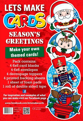 Lets Make Cards COMPLETE Kit Childrens Cut & Create Decoupage CHRISTMAS  • 4.99£