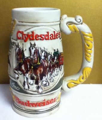$ CDN27.43 • Buy Budweiser Bud Clydesdale Horses Delivery Wagon Beer Cocktail Stein Steins QN5