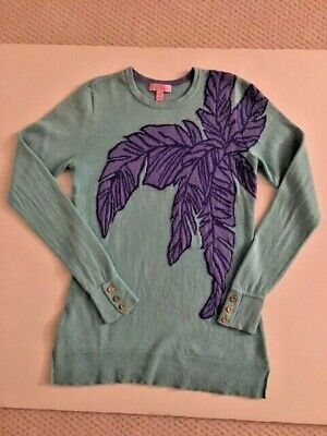Lilly Pulitzer Aqua Purple Pullover Sweater Medium • 19$