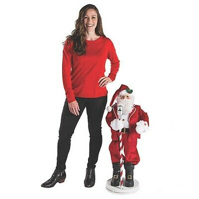 Christmas Decorations 3ft Animated Singing Dancing Santa With Talks Indoor Decor • 44.99$