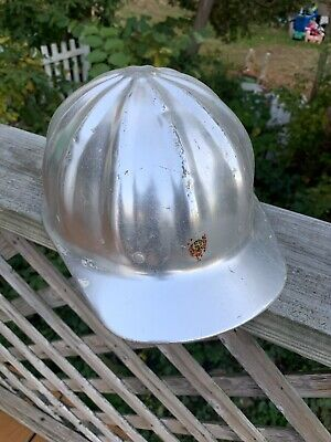 Vintage SuperLite Aluminum Hard Hat Fibre Metal Super Lite Safety Helmet SILVER • 18.99$