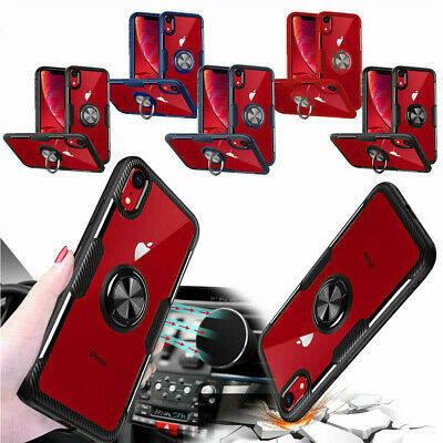 AU7.47 • Buy Magnetic With 360 RIng Holder Clear Hard Case Cover For IPhone XS XR 8+ 7 6 Plus