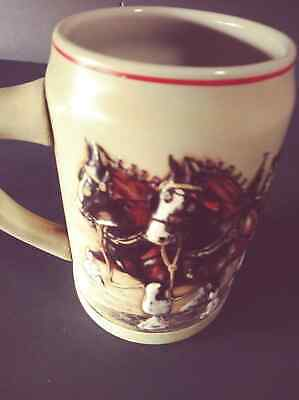 $ CDN10.01 • Buy 1987 Anheuser Budweiser World Famous Clydesdales Beer Stein Mug