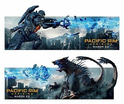 $ CDN18.88 • Buy (2018) Pacific Rim 2: Uprising Movie Silk Fabric Poster Set 14 X36  Two Posters