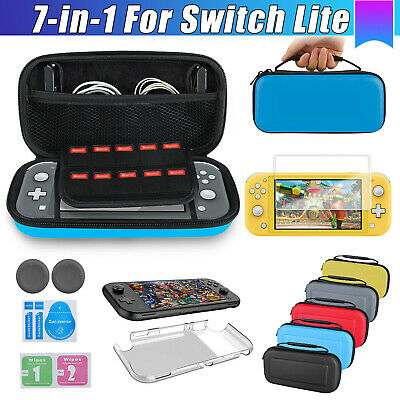 $12.87 • Buy For Nintendo Switch Lite Carrying Case Bag+Shell Cover+Tempered Glass Protector