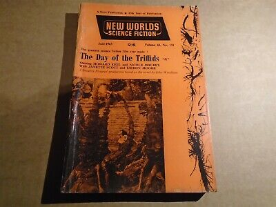 NEW WORLDS SCIENCE FICTION #131 Day Of The Triffids Cover Pulp 1963 Nova  • 3.95£