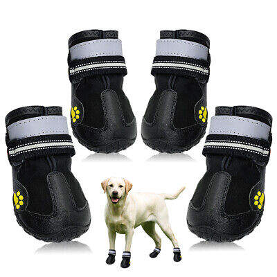Waterproof Dog Shoes Large Snow Boots Paw Protector Booties Reflective Non Slip • 11.99£