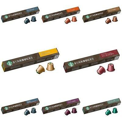 NEW Original Nespresso Starbucks Coffee 10 Capsules/Pods-BUY 3 GET FREE DELIVERY • 4.99£
