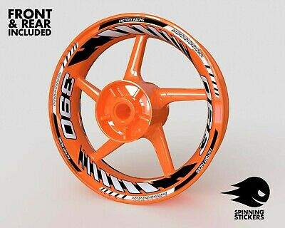 £57.75 • Buy Wheel Stickers For KTM DUKE 390 And RC390 Rim Tape Decals Graphics 17