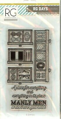 Men RG Days Collection CLEAR Unmounted Rubber Stamp Set Richard Garay RGS-005 • 12.02£