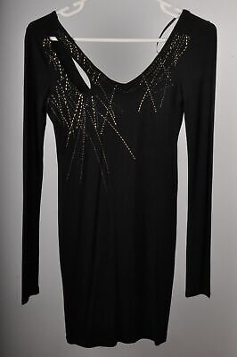AU29 • Buy Y-London Beaded Long Sleeve Bodycon Dress Size 8 Cocktail Ladies BNWT