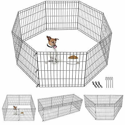 $28.99 • Buy 24 Inch 8 Panels Tall Dog Playpen Large Crate Fence Pet Play Pen Exercise Cage
