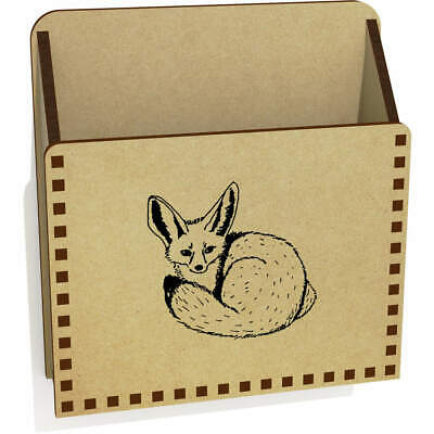 'Fennec Fox' Wooden Letter Holder / Box (LH00024001) • 6.99£