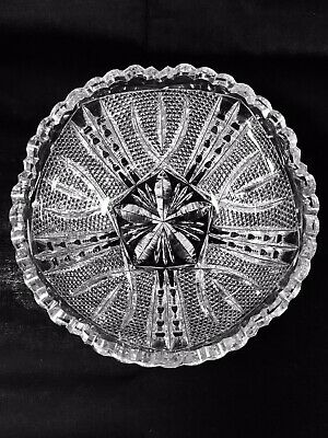 American Brilliant Cut Glass  VICTOR  C.1910  Antique 8  Bowl Signed LIBBEY  • 149.99$
