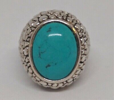 $ CDN95.59 • Buy New Price !  Whitney Kelly ,WK, QVC, Sterling Silver Turquoise Dome Ring .