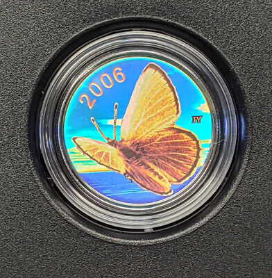 $22.98 • Buy 2006 Canada Sterling Silver 50-Cent Coin By RCM Hologram  Silvery Blue Butterfly