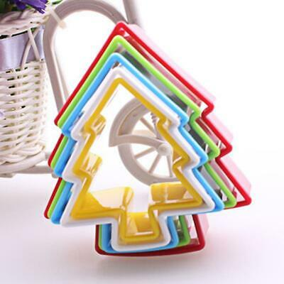 5Pcs CHRISTMAS TREE Cookie Cutter Pastry Fondant Mold Cake Decorating Mould • 4.87£