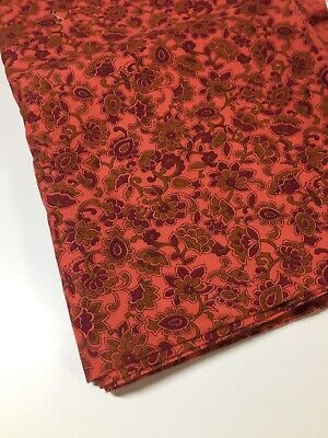 Vintage Viyella Fabric 2 Metres Long X 86 Cm Wide Paisleys Salmon Background • 56.48£