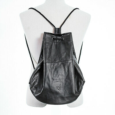 Lucy String Backpack Leather String Bag • 53.46£