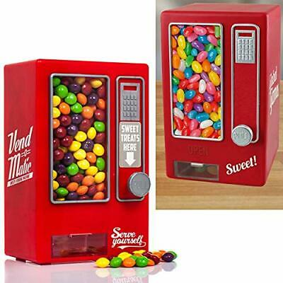 Candy Vending Machine Retro Sweets Dispenser Gumball Kids Gift Red Jelly Beans • 24.90£