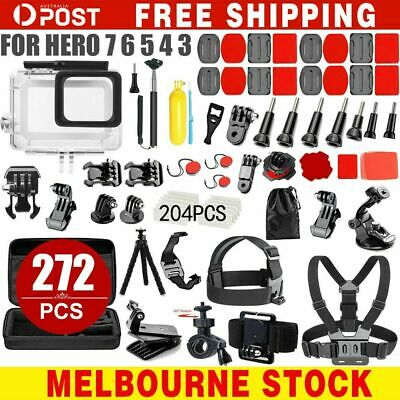 AU32.99 • Buy Accessories Pack Case Chest Head Bike Monopod Float Mount For GoPro Hero 8 7 6 5