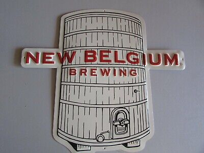 $ CDN42.28 • Buy NEW Belgium Brewery Tin Tacker Metal Beer Sign Party Bar Man Cave Pub Lot Tap