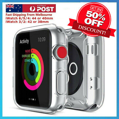 AU5.95 • Buy For Apple Watch Series5/4 IWatch Screen Protector Case Full Coverage/Clear TPU