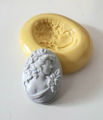 Small Vintage Cameo Silicone Mould 25 Mm Cake Decorating Clay • 3.90£