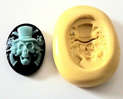 Small SKULL Cameo Silicone Mould 25 Mm Cake Decorating Clay • 3.90£