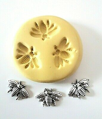 Small Bees Silicone Mould 14 Mm Cake Decorate Sugarpaste Polymer Clay Fimo PMC  • 5.98£