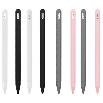 £4.99 • Buy For IPad Pro 11/12.9 Pencil 2nd Non-Slip Silicone Case Sleeve Nib Cover 2PACK