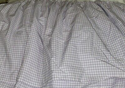 $29.99 • Buy Pottery Barn  PBK Gingham Check Bed Skirt  Tailored Full Purple Lilac 15  Drop