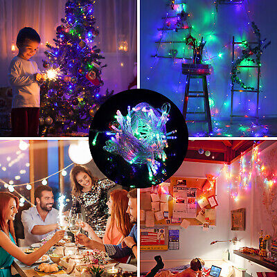 Outdoor Indoor Fairy String Lights 100 LED Christmas Xmas Party Decor Lamps Plug • 8.98$