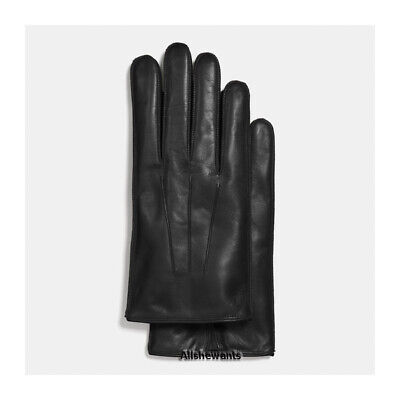 $64.95 • Buy NEW Genuine COACH Gloves For Men Black Basic Nappa Leather W/Cashmere MSRP $128