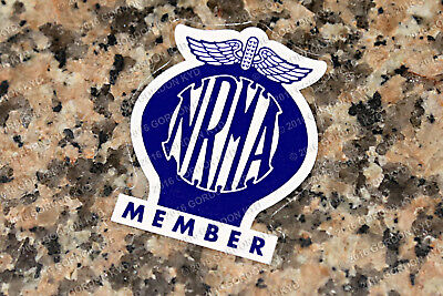AU14 • Buy NRMA (1977 To 1989) DOUBLE SIDED WINDOW STICKER -  VALIANT HOLDEN FORD