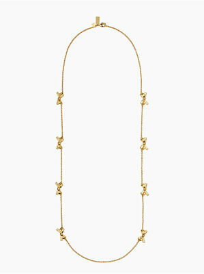 $ CDN76.11 • Buy Kate Spade Skinny Mini Bow Scatter Necklace Gold Plated 32  With Jewelry Bag NEW