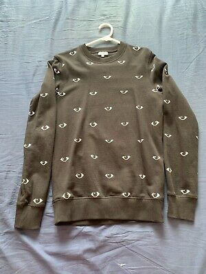 AU98 • Buy Kenzo Eye Sweater Grey Size Xs