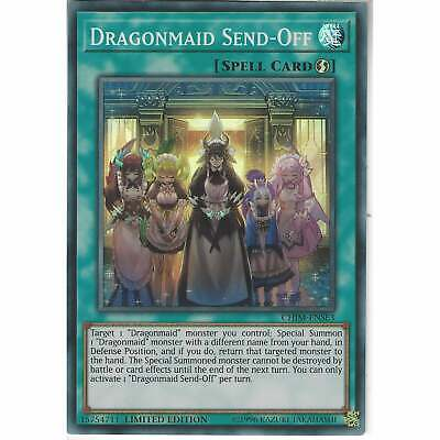CHIM-ENSE3 Dragonmaid Send-Off Limited Edition Super Rare Card YuGiOh TCG Spell • 0.99£