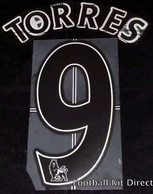 Liverpool Torres 9 Name/Number Set Football Shirt Lextra 07-13 Away Sporting ID • 13.06$