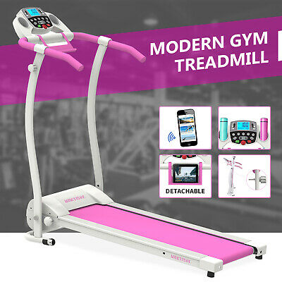 AU281.90 • Buy Electric Treadmill Foldable Fitness Equipment Home Gym Run Exercise Machine Pink