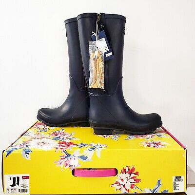 🎁 NWT Joules Collette Navy Rain Boots With Yellow Tassels (Size 8) • 65$