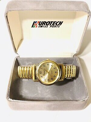 $ CDN78.77 • Buy Vintage Eurotech Swiss Men's Quartz GoldTone Wrist Watch Swiss Parts(20981M)