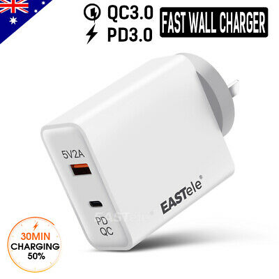 AU27.99 • Buy FAST CHARGING USB Type-C Wall Charger AC Power Adapter PD 3.0 For Apple Samsung